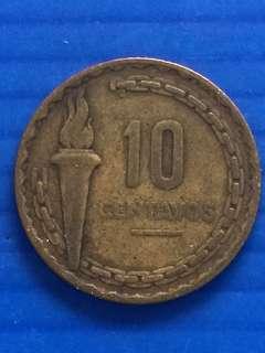 Peru 10 centavos 1954
