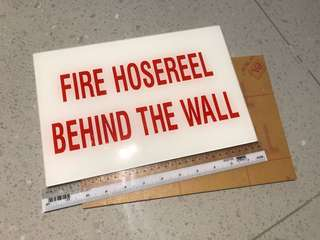 Signage fire hose reel behind the wall 2 pcs
