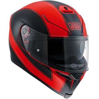 AGV K5 s Enlace Matt Red Helmet - Medium Size
