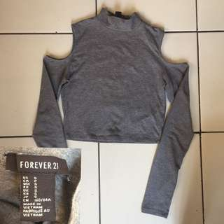 Forever21 cutout crop
