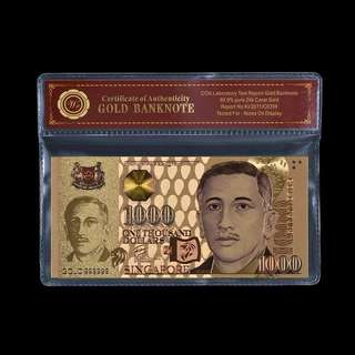 Gold plated $1000