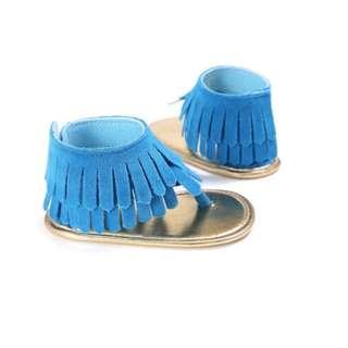Baby Girl Soft Sole Tassel Sandals