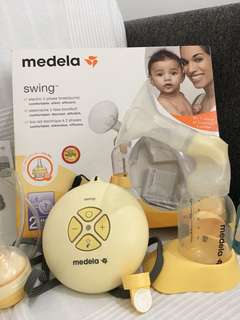 Medela Swing FOC cold pack and accessories