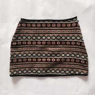 ValleyGirl Tribal Mini Skirt
