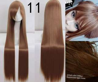 WIG 120cm - Long Straight Brown