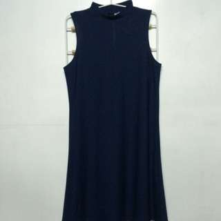 H&M A-Line Dress in Navy