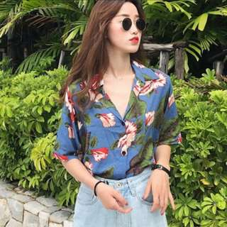[INSTOCKS] Tropical Floral Resort Printed Shirt