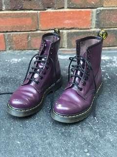 Purple doc martens