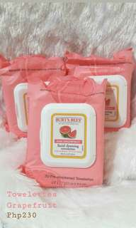 Pink Grapefruit Facial Cleansing Towelettes