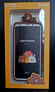 ☆全新☆ SAMSUNG Galaxy S9+ (Line Friends Brown 熊大)全包四邊手機殻