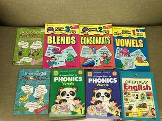 Pre-school english assessment books