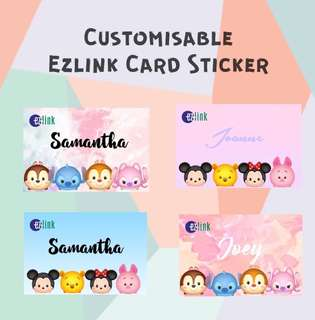 Customizable EZ-Link Card Stickers