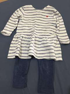 MOTHERCARE 2 PC - 6-9mths- LIKE NEW!