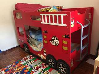 Fire Engine Double Decker Kids Beds