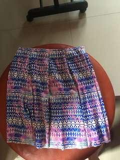 GTW Urban Galaxy-Geometrical Print Skirt