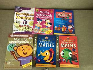 Pre-school maths and English assessment books