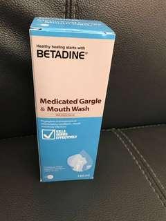 Betadine medicated gargle & mouth wash