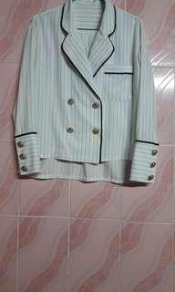 balmain paris lightweight double breasted blazer