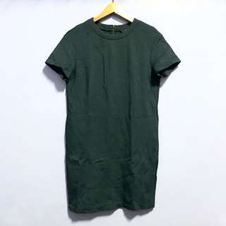 Uniqlo Navyble Shirt Dress with side pockets