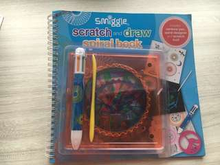 Smiggle scratch and draw spiral book