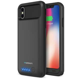Maxboost Atomic Battery Case for iPhone X 4000mAh