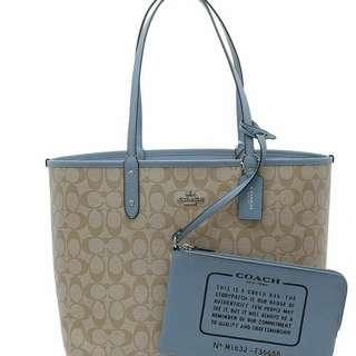Reprice coach reversible tote bag