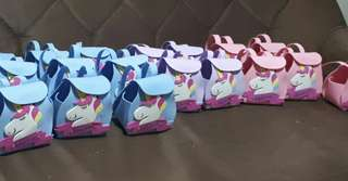 Unicorn backpack goodiebags for souvenir