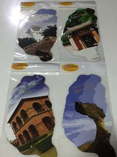 4pcs Taiwan scenery bookmark