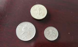 Sterling british pound currency coin (3 pcs)英镑币