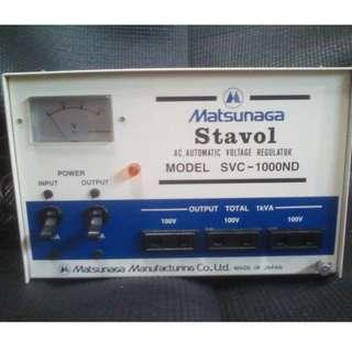 Step down transformer/Automatic Voltage Regulator (Medical grade For Japan appliances 100v 1000w Matsunaga)