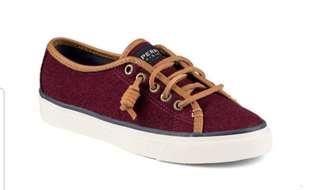 Sperry Seacoast Varsity Burg-Burgundy Sneakers