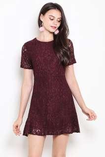 BNWT Shop Sassy Dream Lace Dress (Wine)