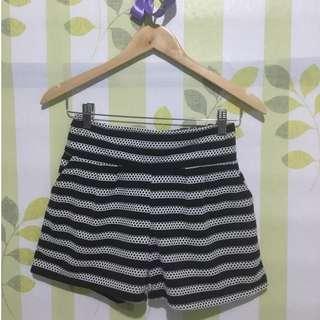 Aztec Black & White Shorts
