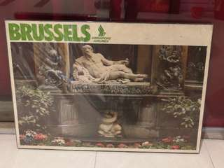 70's Singapore Airlines Brussel poster