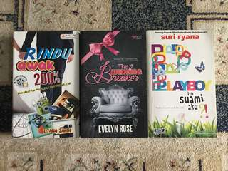 Novel (Rindu Awak 200%, Wedding Breaker & Playboy Itu Suami Aku)