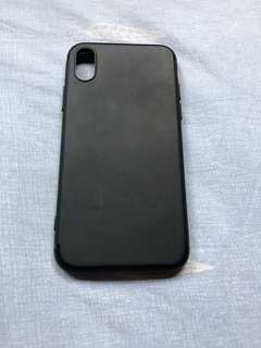 iPhone X Silicone Casing Black