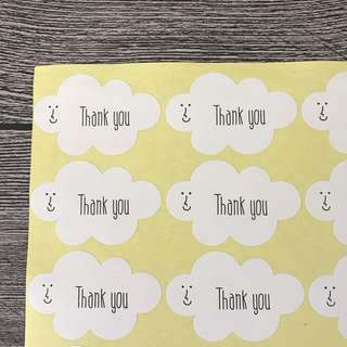 (Free Postage) 96 big thank you stickers - Clearance