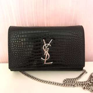 PRELOVED YSL CROCODILE BLACK SLING BAG