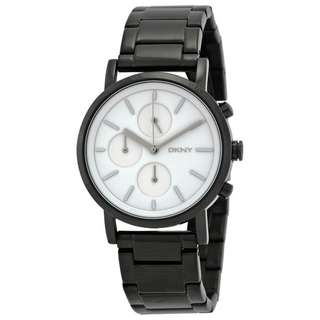 SOHO WHITE DIAL BLACK ION-PLATED LADIES WATCH NY2149