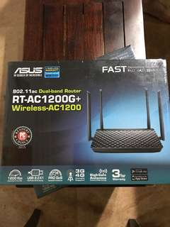 Asus 802. 1.1ac Dual-band Router RT-AC1200G+ Wireless