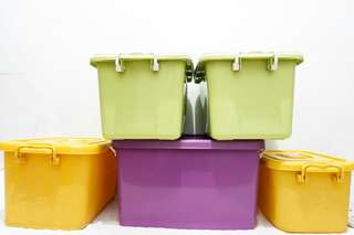 Affordable colorful storage boxes