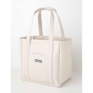 🚚 日本 雜誌包relume 實品圖 帆布大容量肩背包 米白色