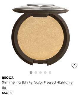 Becca highlighter pressed prosecco pop