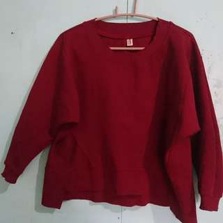 Maroon Pull Over Cropped Top
