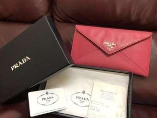 Prada Wallet Saffiano Metal, Peonia