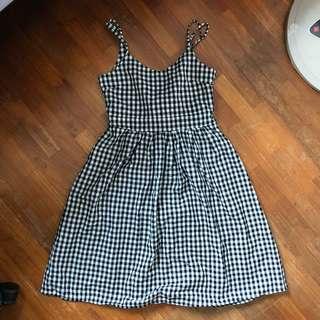 summer bow-back gingham dress