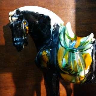 舊瓷~三彩駿馬