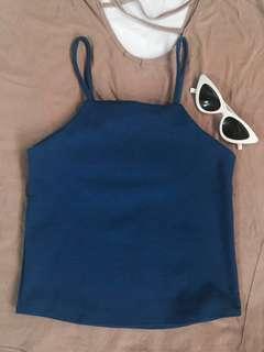 Dark Blue Halter Top