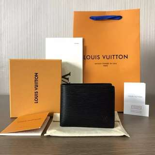 Dompet Lv Pria Epi Leather Mirror Quality