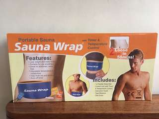 Portable sauna strap with timer and control